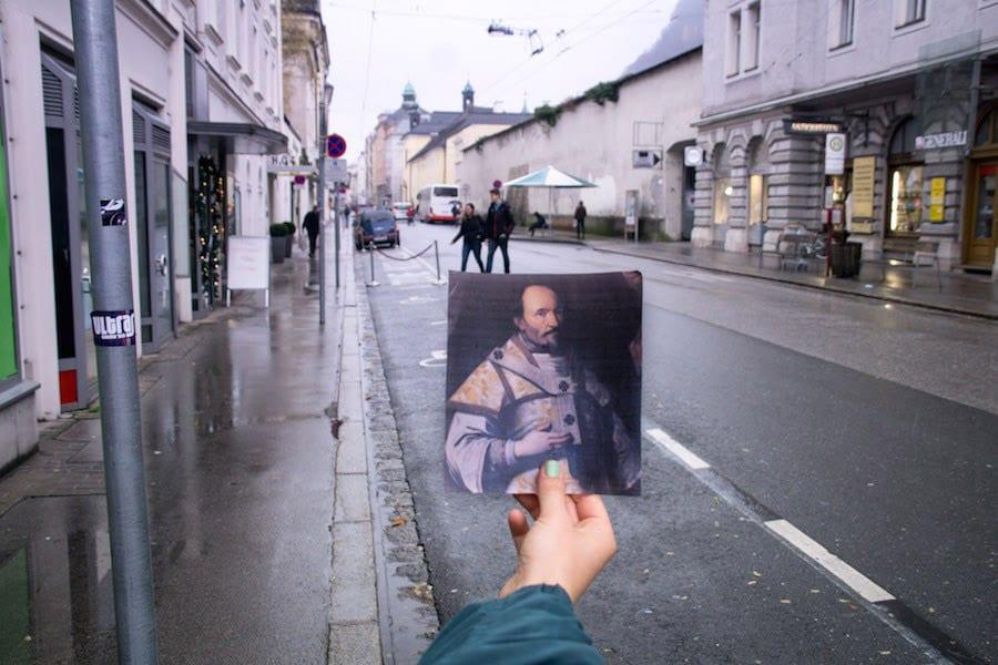 Die Paris-Lodron-Straße in Salzburg