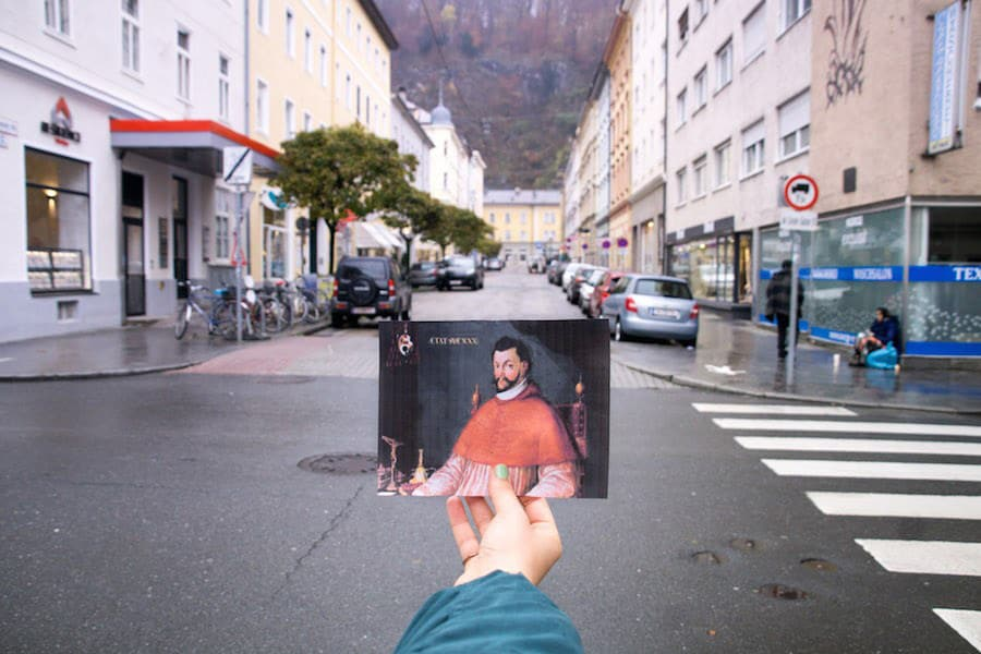 Die Wolf-Dietrich-Straße in Salzburg