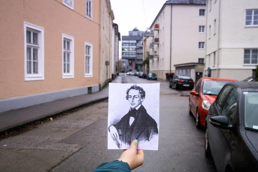 Die Christian-Doppler-Straße in Salzburg