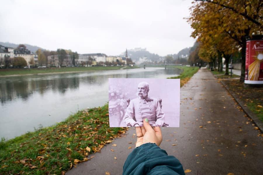 Der Franz-Josef-Kai in Salzburg