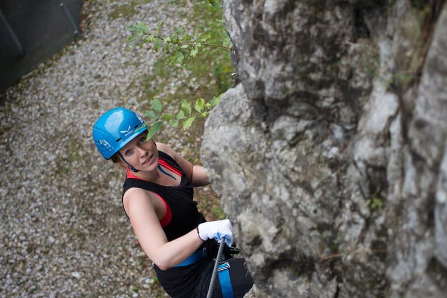 Klettern auf der Salzburger City Wall