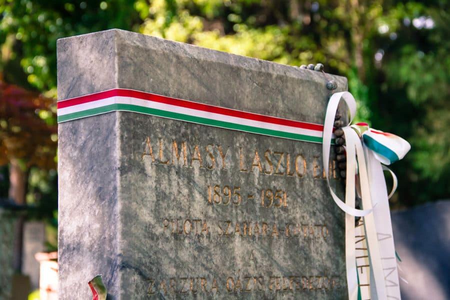 Das Grab des Englischen Patienten László Almásy am Salzburger Komunalfriedhof