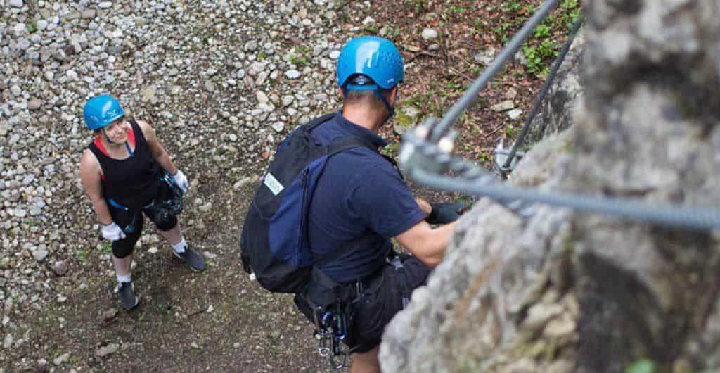 Der Salzburger Klettersteig am Kapuzinerberg