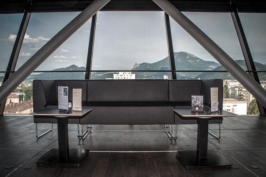 Die Panoramabar in Lehen