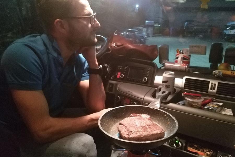 Fleisch im LKW