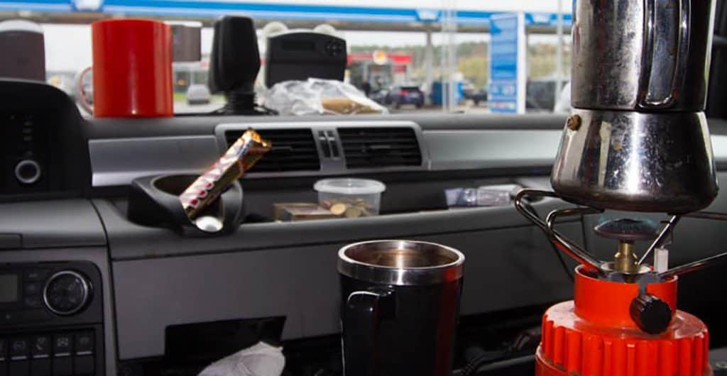 Kaffee machen im Truck