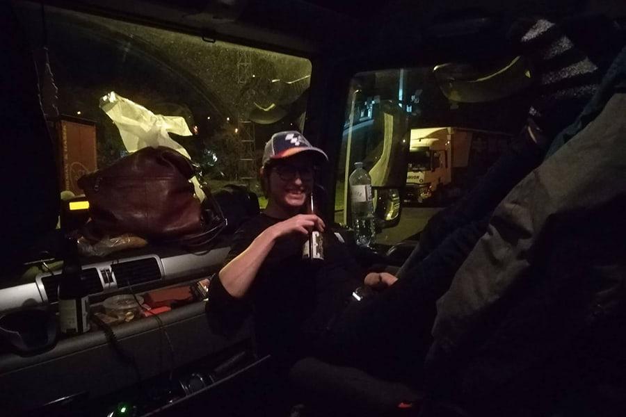 Lisa als Trucker