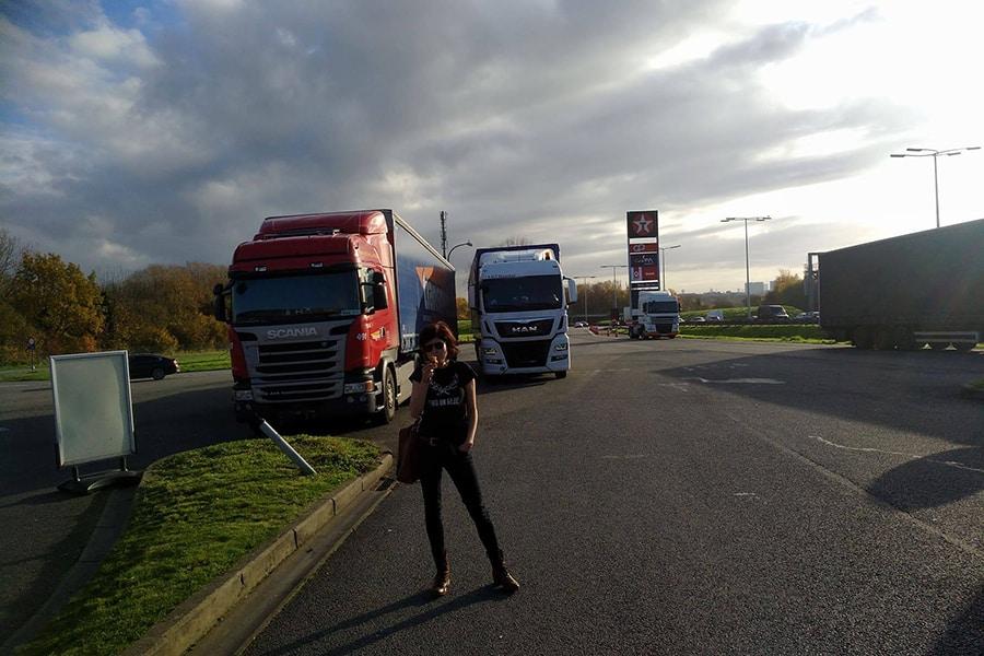Lisa ist auf Truckertour