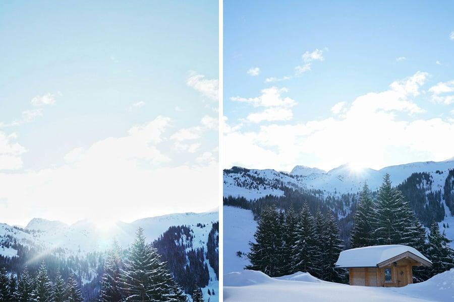 Sonnenstrahlen in Saalbach