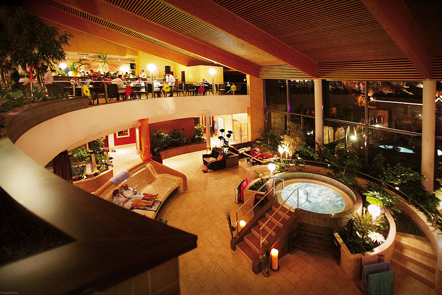 Entspannung und Lounge Bereich im Aqua Salza