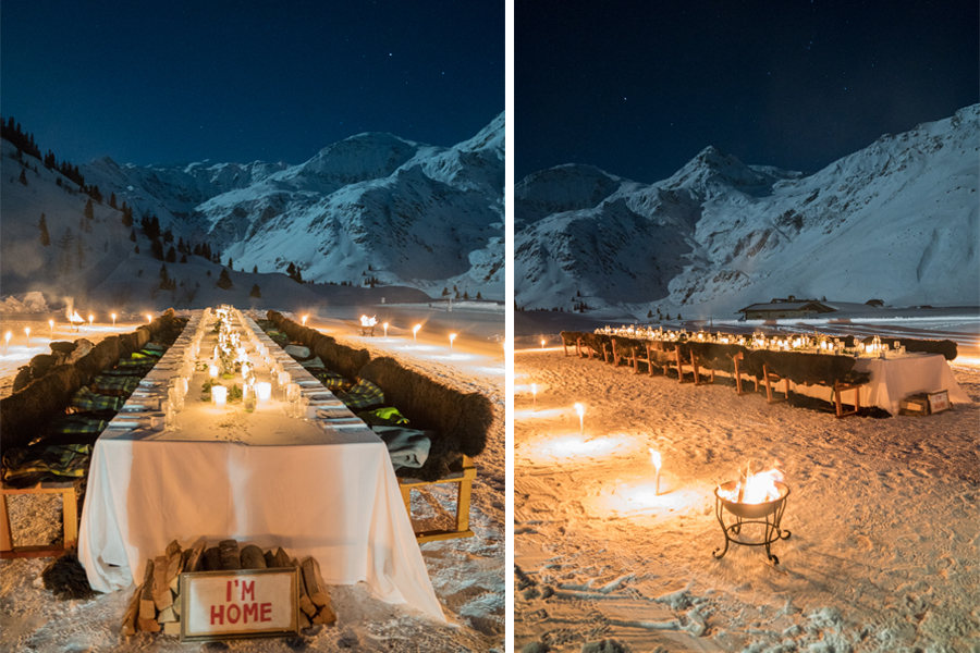 Vollmond-Dinner in Sportgastein
