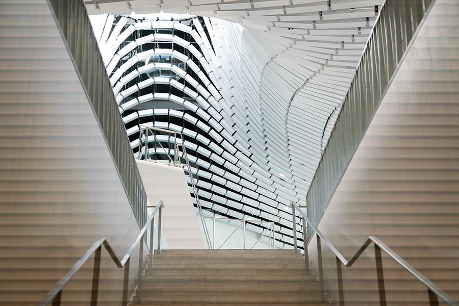 Die Wow Treppe im neuen Paracelsusbad