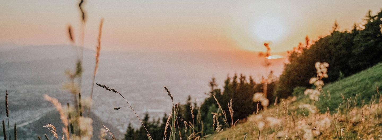 Sonnenuntergang Gaisberg