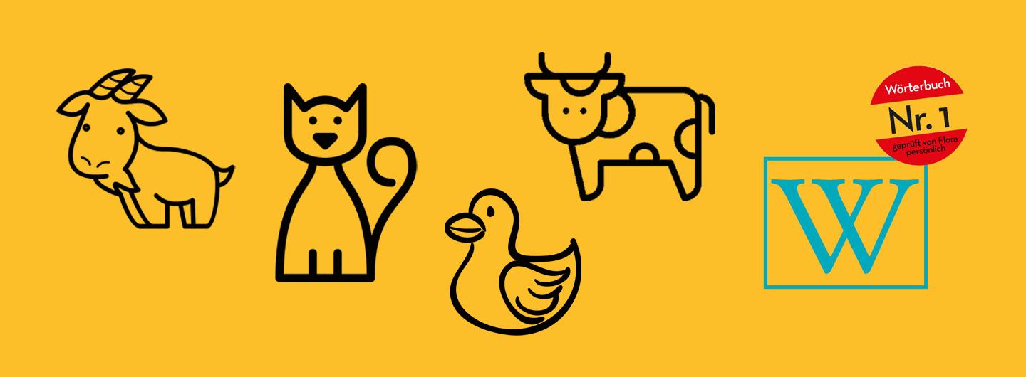 Salzburgerisch-Deutsch Tiere